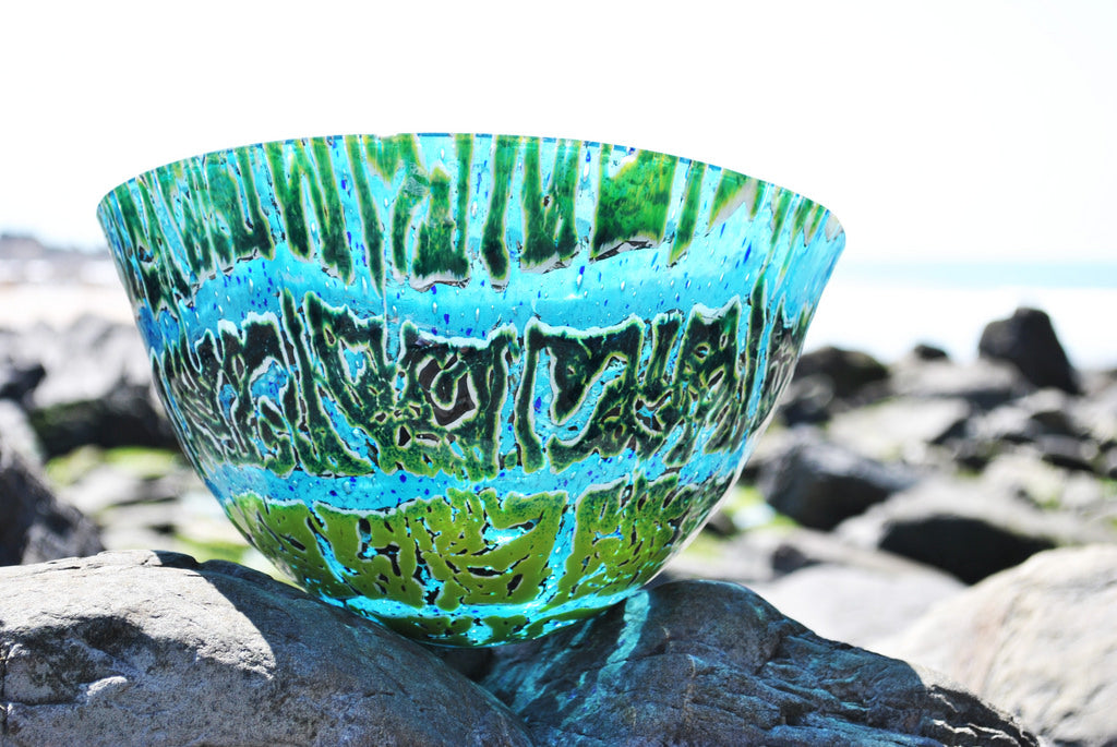 Jangala -Art glass vessel (large) by Gregg Anston-Race