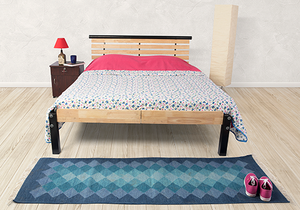 Rubberwood Double Bed