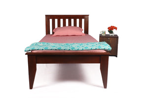 Unboxed Plus Sepia Solid Wood Single Bed