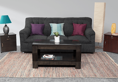 Upholstered Cushion 3 Seater Sofa