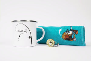 "Gift Pack - ""Hook It"" Camping Mug, Keyring, Lucky Fishing Towel"