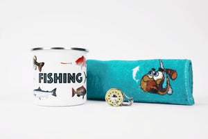 "Gift Pack - ""Fish"" Camping Mug, Keyring, Lucky Fishing Towel"