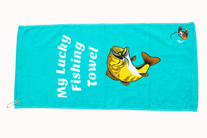 "Fishing Towels - ""My Lucky Fishing Towel"""