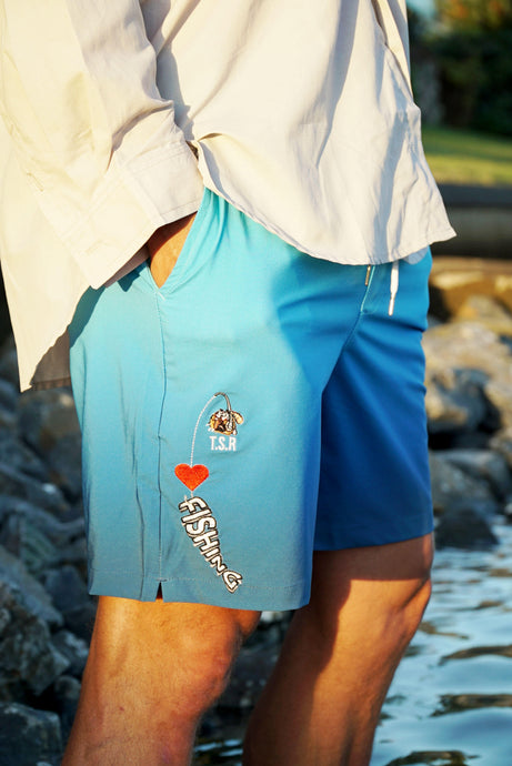Fishing Boardshorts - Blue Ocean