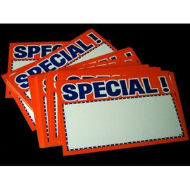 Florescent Orange Special Retail Tags