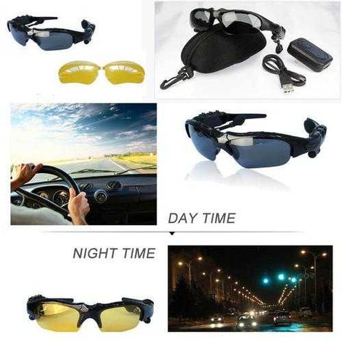 Day and Night Sunglasses with Bluetooth headphone and handsfree talk