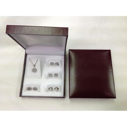Five Piece Set in Gift Box Rhodium