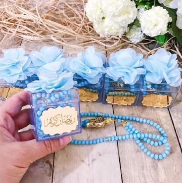Acrylic boxes with tasbih (Rosary)