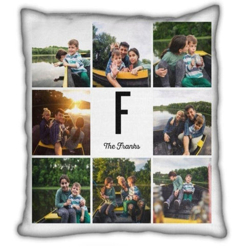 Custom Photos Monogram Cushion