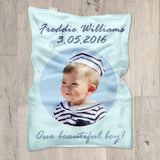 Our beautiful baby Customized Photo Blanket