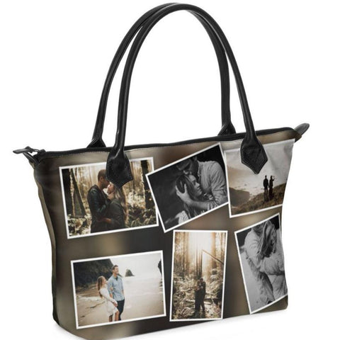 Custom Photo Leather Handbag printed with your photo