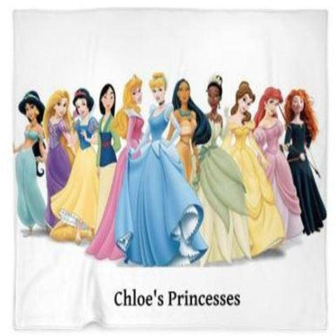 Princesses Customized  Blanket