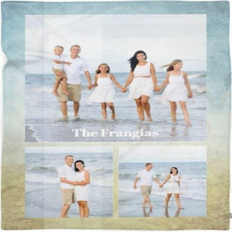 Family triptych Customized Photo Blanket