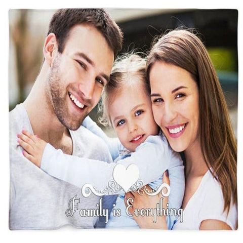 Family is Everything Customized Photo Blanket