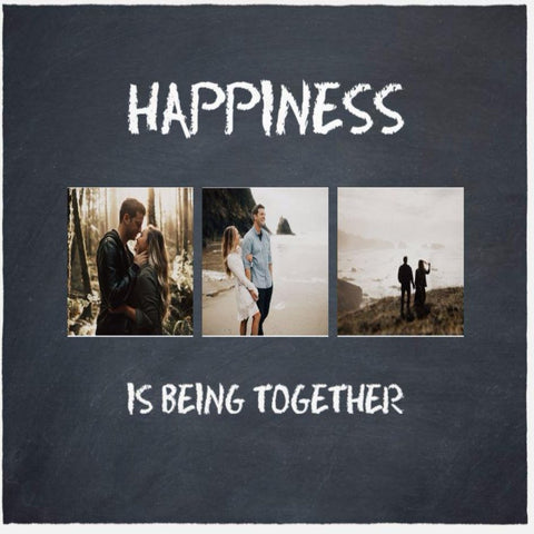 Happiness Customized Photo Blanket