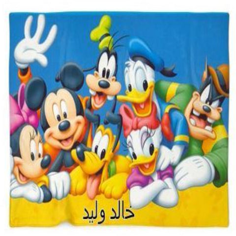 Mickey Mouse Family Customized Blanket