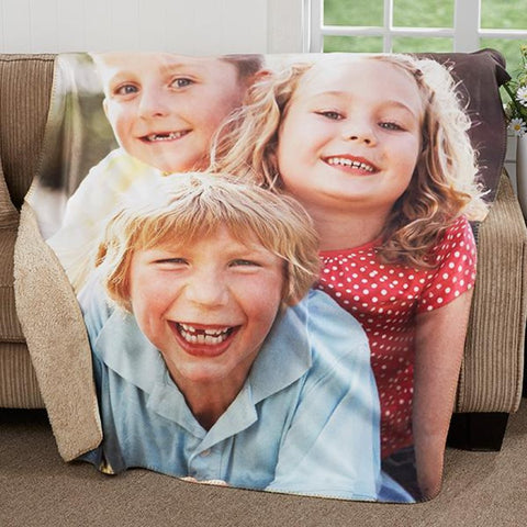 Simple Customized Photo Blanket