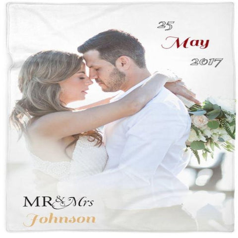 Mr & Mrs Customized Photo Blanket