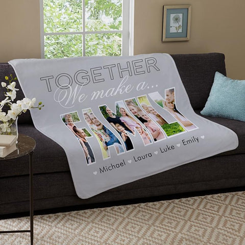 Together We Make A Family Photo Blanket