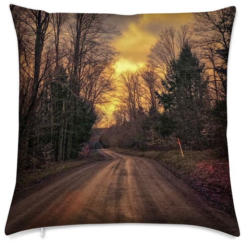Customized Roadtrip Landscape Cushion