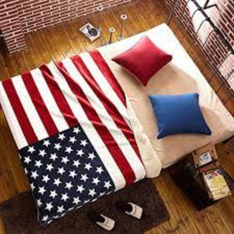 USA  Flag Customized Blanket
