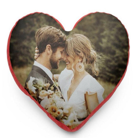 Customized Photo Heart Cushion