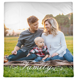Full Family Photo Customized Photo Blanket