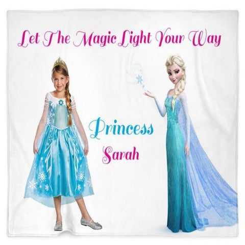 Personalized Elsa Kid Blanket