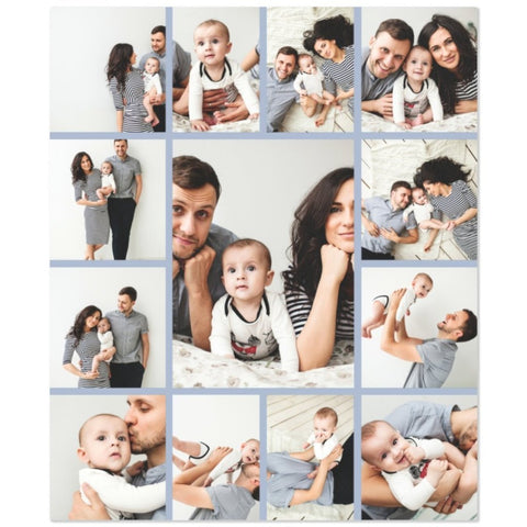Family collection Customized Photo Blanket