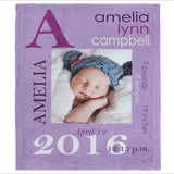 """All About you"" Customized Photo Baby Girl Blanket"