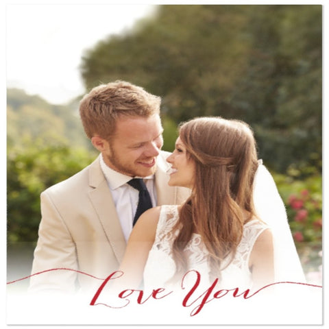 I Love you  Customized Photo Blanket