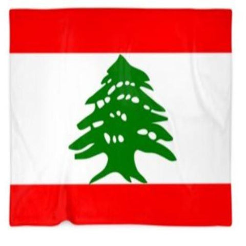Lebanon Flag Customized Blanket