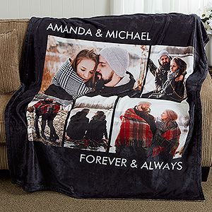 Forever and Ever Personalized Photo Blanket