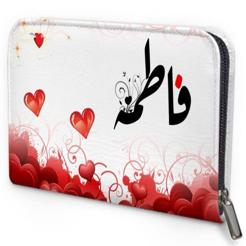 Arabic Name with hearts Personalized  wallet