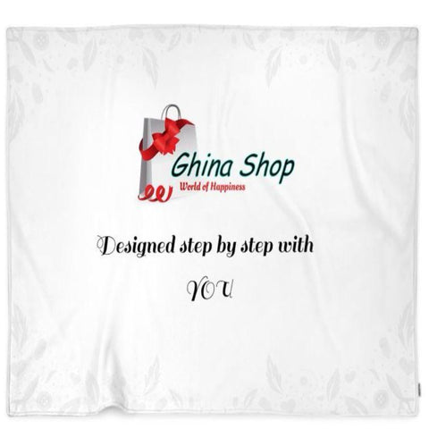 Centralized Business Logo Customized Blanket