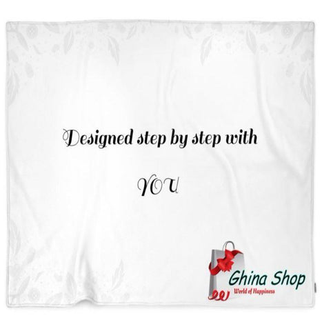 Left Angle Business Logo Customized Blanket