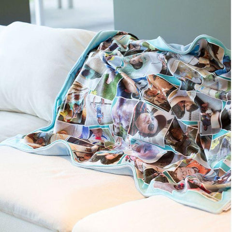 Customized Photos Montage Blanket