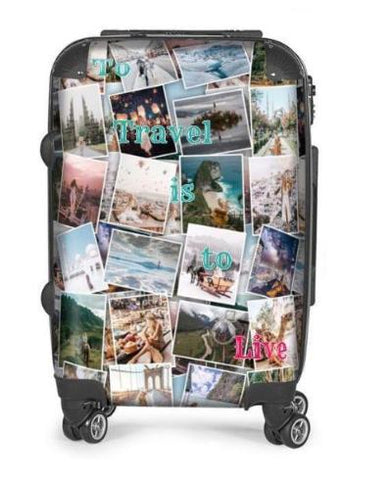 Personalized Montaged Photo Suitcase
