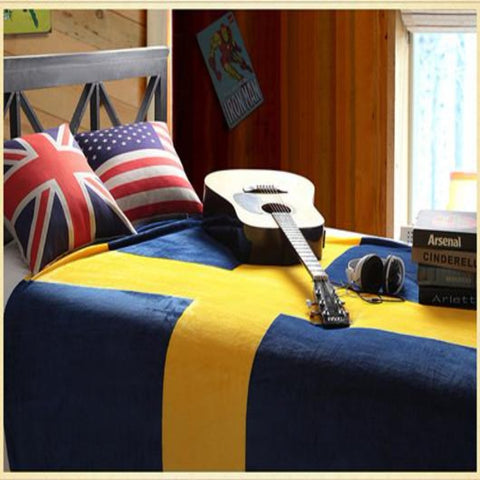 Sweden Flag Customized Blanket
