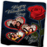 Happy Valentine Day Customized Photo  Blanket