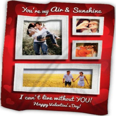 Customized Photo Love Frames Blanket