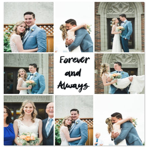 Forever and Always Customized Photo Blanket