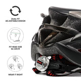 Champagne Gold / Black Lightweight Helmet + Integrated Safety Warning Led