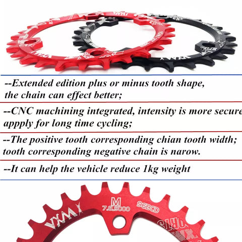 Narrow Wide Round Chain Ring 96 BCD Crank For M7000 M8000 32T/34T