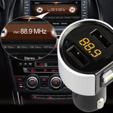 Car Bluetooth FM Transmitter Cigarette Socket USB Charging Battery Voltage MP3 Kit