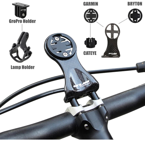 Carbon Speedometer / Computer Handlebar Holder For Garmin CATEYE Bryton MTB Road Gopro Mount