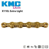 KMC X11 Extra Light MTB EL Road 11 Speed Gold Chain + Missing Link