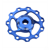 Anodized Bearing Jockey Wheel 11T Pulley For Rear Derailleur Cage