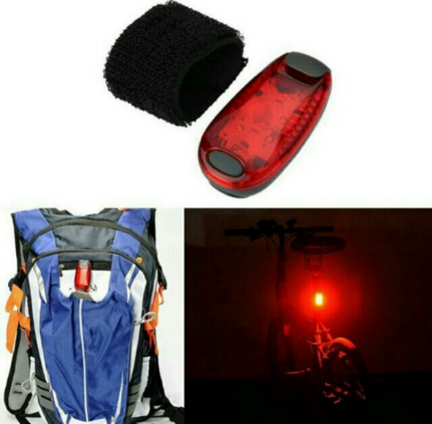 Red Safety Led For Helmet/Back Pack/Haversack/Seat Post/Pouch