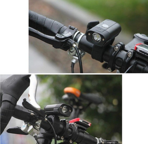 USB Rechargeable 350 Lumens Front Light Outdoor Weatherproof Handlebar LED Lamp 5 Modes Headlight
